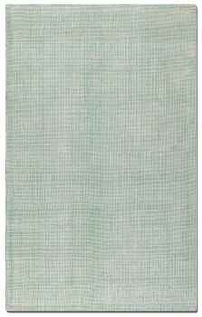 Zell Seafoam 5' Hand Loomed White Rug with Seafoam Undertones Brand Uttermost