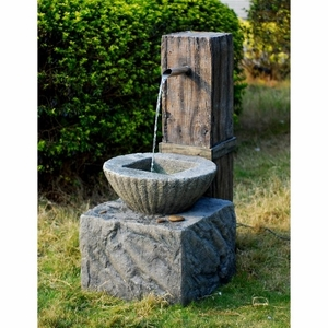 Zen Fountain With Steel Overflow Spout Looks Like Made Of Solid Stone Brand Domani