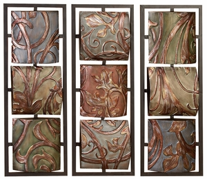 Metal Wall Decor 3 Assorted Can Be Put In Waiting Area - 56489 by Benzara