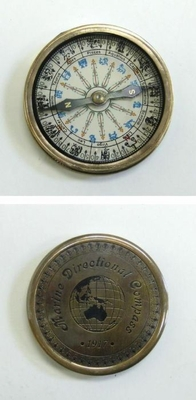 Zodiac Compass Engraved with Marine Directional Compass 1917 by IOTC