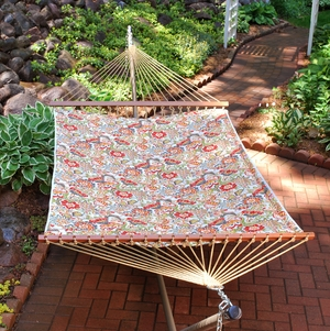 Zoe Citrus 13' Reversible Quilted Hammock by Alogma