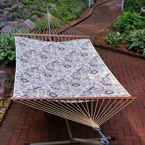 Zoe Stone 11' Reversible Quilted Hammock by Alogma