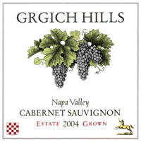 2004 Grgich Hills Estate Cabernet Sauvignon Napa Valley 750 ml x 12 Pack