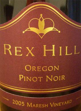 2005 Rex Hill Vineyards Pinot Noir Maresh Willametty Valley