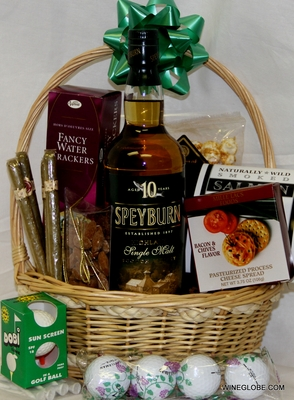 Father's Day Single Malt Scoth and Cigar Gift Basket