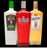 Handcrafted Caribbean Rum combo (3 Pack) Jolly roger, Red Rum and Voodoo ( Sale For : $55.99)