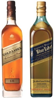 Johnnie Walker Blue and Gold 750ml - 2 Pack