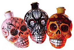 Kah  Day of the Dead Tequila Unique Decanter Set