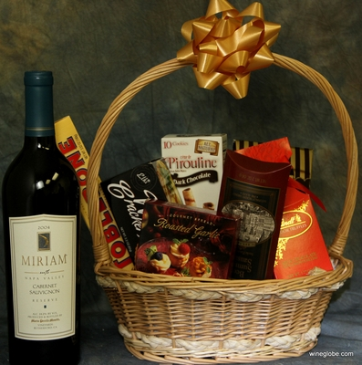 Miriam(100% Napa Reserve Caberent 93pts) Gift Basket