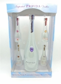 Pravda Vodka 750 ML Miniature Gift Set with 4 x 50 ML and Gift Box