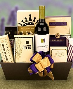 St Patricks Day Wine and Gourmet Basket