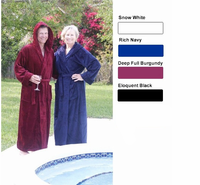 Premium Cotton Terry Velour Hooded Bathrobe