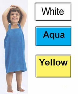 Girl's Cotton Bath Wrap for ages 4-7 in white