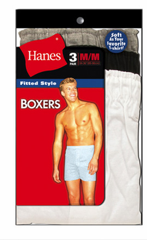 Hanes Fitted Knit Boxers in 3 pack