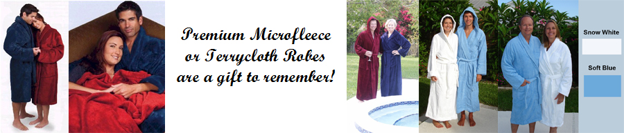 Tahoe Microfleece or Terrycloth Robes for Men and Ladies