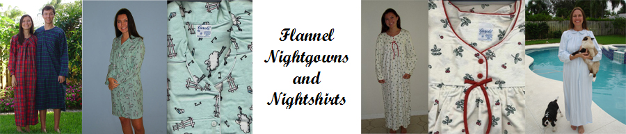 Flannel Ladies Nightgowns and Mens Nightshirts