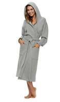 Hoodie Sweatshirt Wrap Robe for ladies