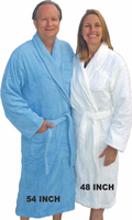 Mens Terry Shawl Collar Robes in 5 sizes 100% Cotton