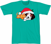 Santa Critters Nightshirt 100% Cotton in 36 inch length