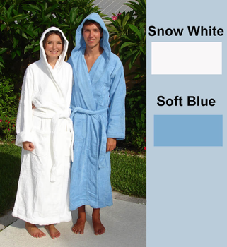 Terry Hooded Spa Robe 100% Cotton in 5 sizes