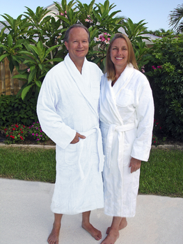 Terrycloth Shawl Collar Light Weight Mens Robe in 100% Cotton