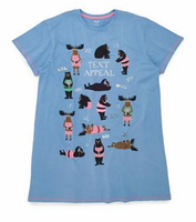 Text Appeal Hatley Soft Cotton Nightshirt