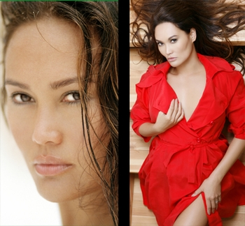 ACTRESS, MODEL, AND SINGER TIA CARRERE GREETING FANS AT ANAHEIM COMIC CON