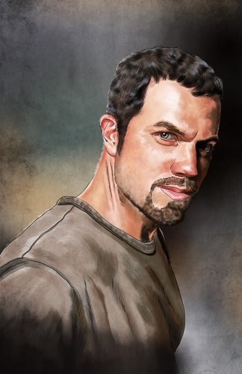 <i>Adam Baldwin</i> Philadelphia Comic Con Wizard World VIP Exclusive Lithograph by Cris Delara