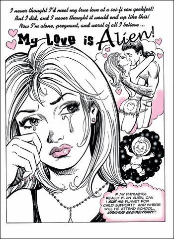 <i>Alien Love</i> Wizard World VIP Exclusive Lithograph by Dan Parent