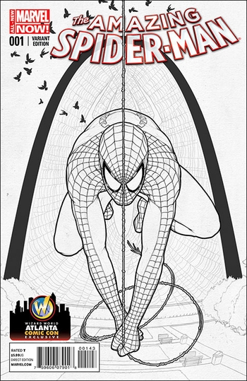 <i>Amazing Spider-Man #1</i> Atlanta Comic Con Exclusive Variant Sketch Cover by John Tyler Christopher