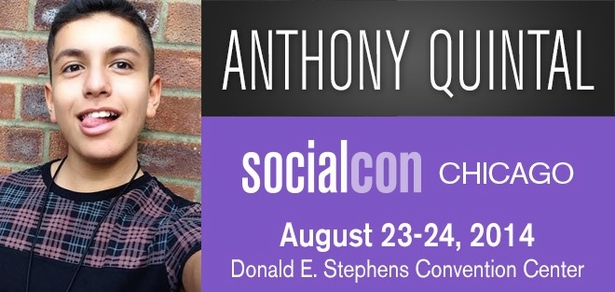Anthony �Lohanthony� Quintal, <i>Social Media Phenom</i>, Coming to socialcon CHICAGO