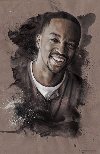 <i>Anthony Mackie</i> Wizard World Comic Con VIP Exclusive Lithograph by Rob Prior