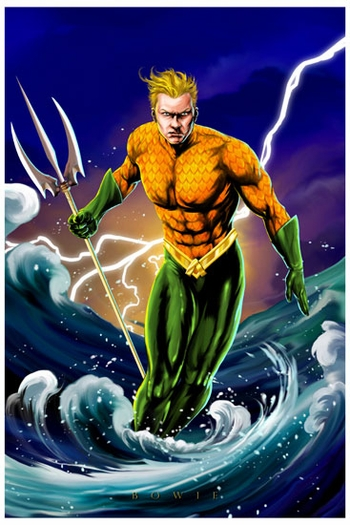 <i>Aquaman</i> St. Louis Comic Con Exclusive Print by Damon Bowie