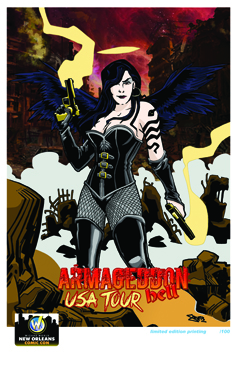 "<i>Armageddon: Hell Tour</i> New Orleans Comic Con Exclusive Lithographs by Dan ""SMIF"" Smith"