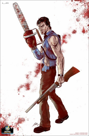 <i>Ash/Bruce Campbell</i> Chicago Comic Con Exclusive Print By J. Christopher Schmidt