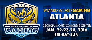 Wizard World Gaming Atlanta 2016 VIP Package + 3-Day Weekend Admission