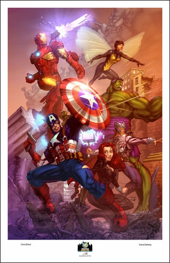 <i>Avengers</i> Chicago Comic Con Exclusive Lithograph by Chris Ehnot