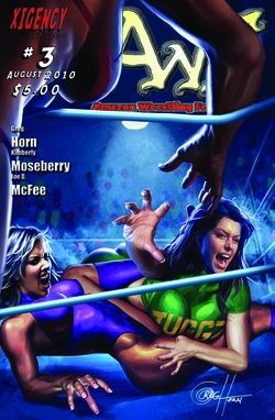 AWF: Amazon Wrestling Federation Issue #3  and Poster - Chicago Comic Con Exclusive