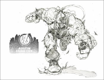 <i>Bane</i> Austin Comic Con Exclusive Lithograph by Greg Capullo