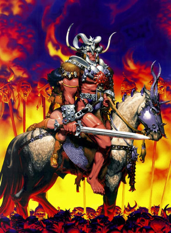 <i>Barbarian</i> Austin Comic Con Wizard World VIP Exclusive Lithograph by Michael Golden