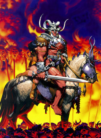 <i>Barbarian</i> St. Louis Comic Con VIP Exclusive Lithograph by Michael Golden