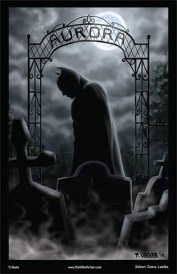 <i>Batman: Aurora Tribute</i> Chicago Comic Con Exclusive Lithograph by Robert James Luedke