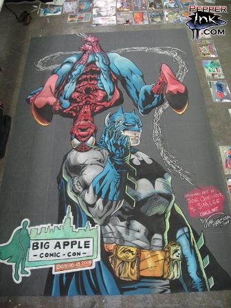 BIG APPLE COMIC CON CHALK ART