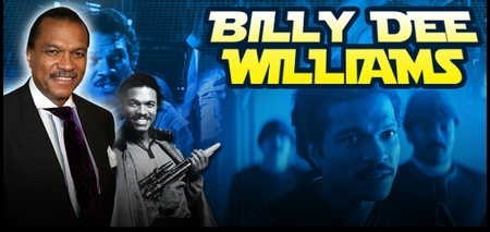 Billy Dee Williams, <i>Lando Calrissian</i>, STAR WARS EPISODE V & VI, Coming to Des Moines, & Richmond!