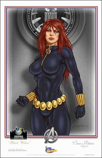 <i>Black Widow</i> Chicago Comic Con Exclusive Lithograph by Kurt Lehner