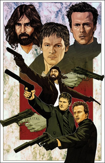 <i>Boondock Saints</i> Sacramento Comic Con VIP Exclusive Lithograph by Brian Kong