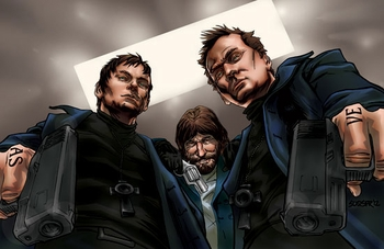 <i>Boondock Saints</i> Austin Comic Con VIP Exclusive Lithograph by Siddeeq Saafir
