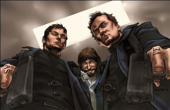 <i>Boondock Saints</i> Philadelphia Comic Con VIP Exclusive Lithograph by Siddeeq Saafir