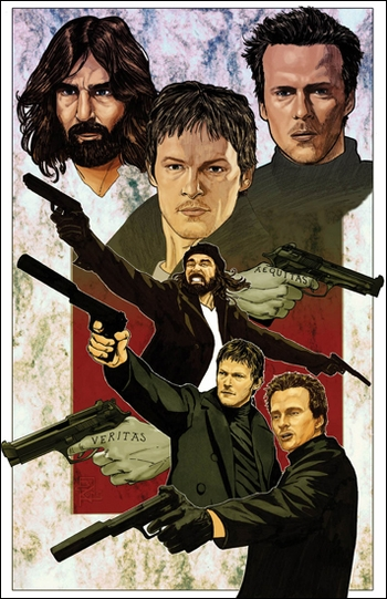 <i>Boondock Saints</i> Portland Comic Con VIP Exclusive Lithograph by Brian Kong