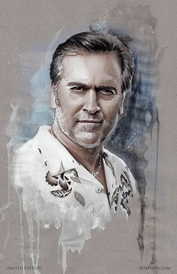 <i>Bruce Campbell</i> Portland Comic Con VIP Exclusive Lithograph by Rob Prior